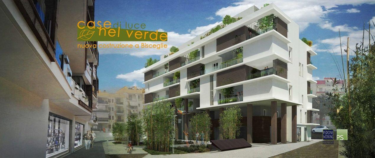 """Építészeti elképzelés a """"Zöld házakról"""" Bisceglie városában, Pugliában"""